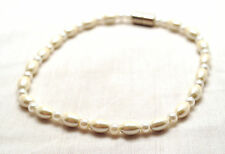 LADIES HEALING 10 IN PEARLS & PEARLS MAGNETIC THERAPY HEMATITE ANKLET: 4 Pain!