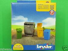 Bruder 02607 Zubehör Mülltonnen Set Blitzversand per DHL-Paket