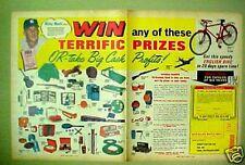 Mickey Mantle New York Yankees Baseball Kids Toy Bike 1966 Vintage Sports AD