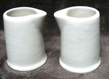 2 TOLTEC WARE Bailey-Walker CHINA individual CREAM PITCHERS Bedford O 1941 Syrup