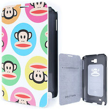 Paul Frank Samsung Galaxy Note Flip Cover Phone Case - Color Bubble Licensed