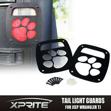 Xprite Paw Print Tail light Cover Guard For 1987 - 2006 Jeep Wrangler TJ YJ
