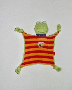 Frosch Frog Sigikid grün rot orange & blau Schmusetuch Kuscheltuch Schnuffeltuch