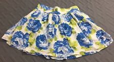 Abercrombie & Fitch Womens Floral Skirt Size Small Blue White Elastic Waist