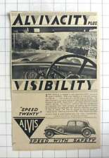 1935 The Alvis Speed 20 Model From £700, Speed With Safety