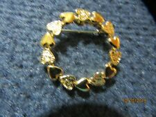 Round Heart Pin Sarah Coventry Gold