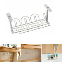 Under Desk Cable Management Tray Wire Cord Power Strip Adapter Organizer Shelf