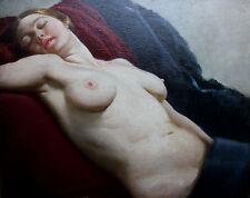 DORA CROCKETT 1888-1953 BRITISH OIL PAINTING ART NUDE WOMAN PORTRAIT EXHIBITED
