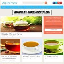 Tienda de té-Home basado en ganar dinero negocio para la venta de sitios Web + dominio + Hosting