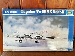 TRUMPETER 1:72 TUPOLEV Tu-95MS BEAR-H MODEL AIRPLANE KIT  (OPEN BOX)