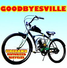 "USA SELLER NEW 2019 GOODBYESVILLE 50 80 CC GAS MOTOR ENGINE & 26"" BIKE SCOOTER"