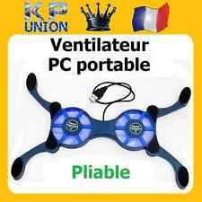 VENTILATEUR REFROIDISSEUR POUR NOTEBOOK PC PORTABLE PLIABLE 2x VENTILATEURS NEUF