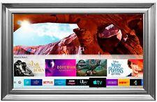 "Framed Mirror TV Samsung 50"" 4K Ultra HD HDR Smart LED TV/ Silver Spoon Frame"