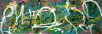 Malerei Leinwand 150 cm Canvas PAINTING abstract abstrakt contemporary art green