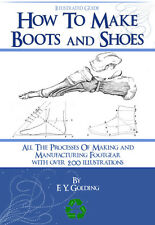 How To MAKE BOOTS and SHOES 300 Pages illustrated Book Printable on cd