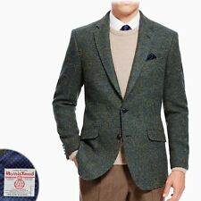 HARRIS TWEED Pure Wool TAILORED BLAZER by M&S LUXURY ~ Size 42 Short ~ GREEN Mix