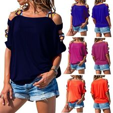 Plus Size Women Ladies Fringe Summer Top Short Sleeve Blouse Casual Tops T Shirt