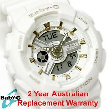 CASIO BABY-G WATCH BA-110GA-7A1 WHITE x GOLD BA-110GA-7A1DR 2-YEARS WARRANTY