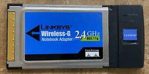 LINKSYS Wireless-G 2.4GHz 802.11g Notebook Adapter Model No. WPC54G ver 3.1