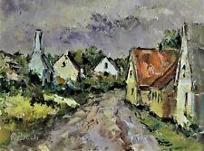 Svend Ørbech JACOBSEN 1929 Impressionismus-Gemälde: EINE DORFANSICHT IN DÄNEMARK