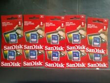 LOT of 10! SanDisk 8GB SDHC Memory Cards SDSDB-008G NEW! Retail packaging!!