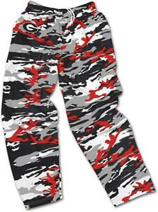 Zubaz Georgia Bulldogs Mens Medium Camo Print Casual Active Pants C1 2106