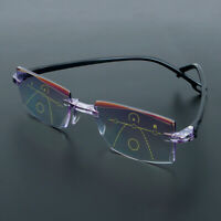 Progressive Multifocal Presbyopia Eyeglasses Reading Glasses Diamond-Cut~