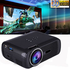 2018 Upgraded Crenova HD Home Portable Video Projector  Full HD 1080P LED LCD 3D