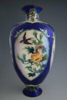 "First Class! Japanese MEIJI Period GINBARI Cloisonné Vase 9.6"" / 24.5cm Tall 256"