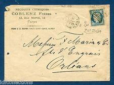 Classique de France sur lettre Cérès N°37 cachet étoile paris N°26