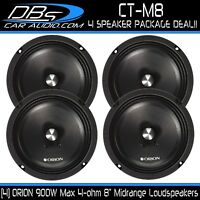 "4 ORION CT-M8 8"" Midrange Bullet Loud Speaker 1800W 4-ohm Car Audio Mid Range"