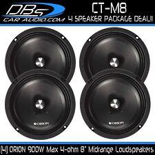 "4 Orion CT-M8 8"" Midrange Bullet Loud Speaker 1800W 4-ohm Car Audio Mid 2 Pair"