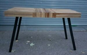 Table Reclaimed Teak Handmade Polished and Partly Painted Dining Table