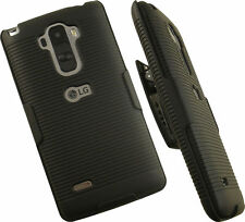 BLACK HARD CASE COVER + BELT CLIP HOLSTER STAND FOR LG G STYLO MS631 H631 LS770