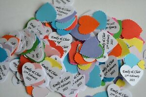 Mr & Mr  Mrs & Mrs SAME SEX WEDDING CONFETTI  PERSONALISED with NAMES & DATE