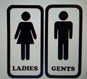 Toilet Gents and Ladies entrance sign Vinyl sticker For Shop Office Home Hotel
