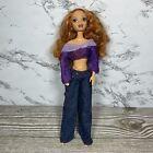 Vintage 1999 My Scene Barbie Doll Kenzie Red Hair Green Eyes Pierced Ear Clothes