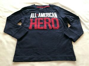 GYMBOREE *RESCUE SQUAD* BOYS ALL AMERICAN HERO NAVY TOP SIZE 5