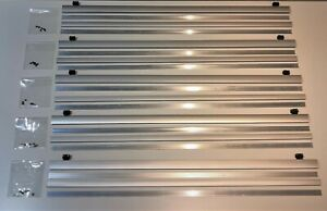 Laufleiste Ikea Kvartal 60cm silber für Gardinenschiene / Laufwagen / Schiene