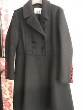 Zara Navy Wool Flared Military Coat