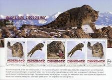 Netherlands 2018 MNH Snow Leopard Endangered Animals 5v M/S Leopards Stamps