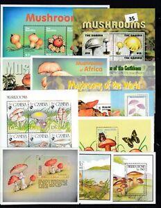 OE 39S/S - MNH - MUSHROOMS - NATURE - PLANTS - FLORA - FAUNA - WHOLESALE