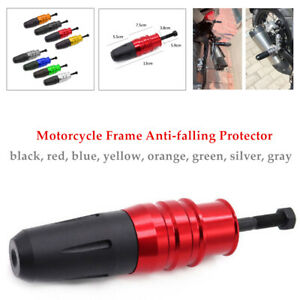 Motorcycle Frame Anti-fall Stick Protector Ground Crash Slider Cap Bolt Universa