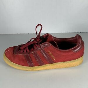 Adidas Topanga Men's Trainers Burgundy Red Suede Shoes Size UK 7 EUR 40.2/3