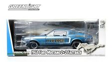 BLUE GO GO GONE 1968 FORD MUSTANG D STOCK GREENLIGHT 1:18 SCALE DIECAST MODEL