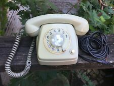 Rare Vintage FTTR Belgium Beige Tone RTT 70 B Rotary Dial Telephone 60s - 70s