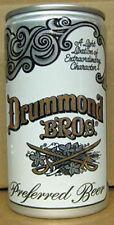 DRUMMOND BROS BEER 12oz CAN with Civil War SWORDS Louisville, KENTUCKY 1979 gd.1