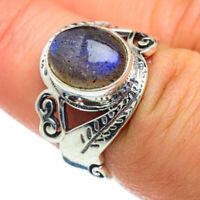 Labradorite 925 Sterling Silver Ring Size 7.25 Ana Co Jewelry R47459F