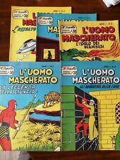 L'Uomo Mascherato Ed. Nerbini Il Vascello n° 1,2,3,4 e 5 originali ottimi 1958