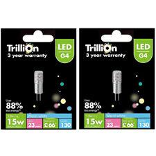 2 x Trillion G4 LED 15W /1.8W Capsule Bulb Warm White Light Uses 88% less energy